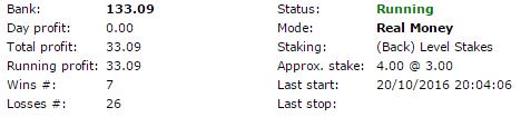 Betting system summary